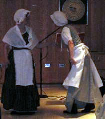 Ruthanne and Lydia colonial performance