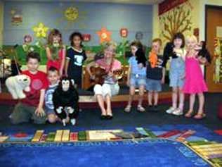 Lydia performing at school